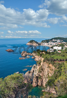 Tossa de Mar an der Costa Brava,Katalonien,Mittelmeer,Spanien