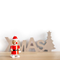a sweet Santa Claus toy with space for your content