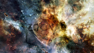 Nebula night sky. Elements of this image furnished by NASA.
