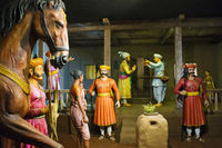 Sant Tukaram and Shivaji Maharaj, Hadshi Temple, Sant Darshan Museum near tikona Vadgoan Maval, District Pune, Maharashtra, India