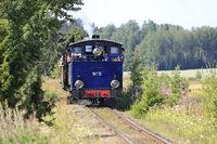 Vintage Steam Locomotive in Finland