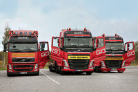 Red Volvo Trucks Oversize Load Transport