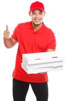 Pizza delivery latin boy order delivering success successful smiling job deliver box isolated on white