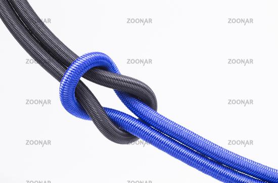 Rauschknotenmit schwarz und blauem Seil