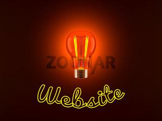 Light Bulb and Website
