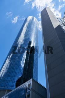 Vieler Hochhäuser mit Büros in Frankfurt am Main