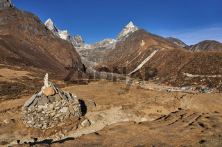Berglandschaft in Nepal