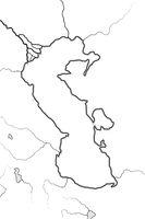 Map of The CASPIAN SEA basin: Circum-Caspian Region (Azerbaïdjan, Iran, Turkestan). Geographic chart.