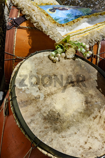 Ethnic drums detail
