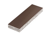 Brown wafer on white background