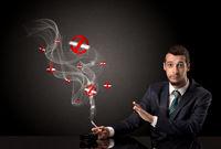 Businessman smoking concept