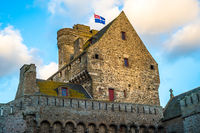 The town hall of Saint-Malo, historic walled city in Brittany, France