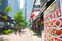 Boat Quay restaurant street Singapore