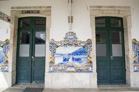 EUROPE PORTUGAL DOURO PINHAO RAILWAY STATION