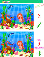 Little mermaid task to find the difference