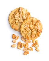 Sweet cookies with peanuts.