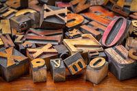 letterpress wood type blocks background