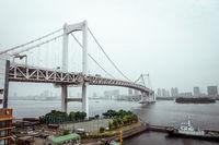 Rainbow bridge, Tokyo, Japan