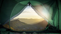 open camping tent