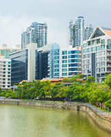 Modern architecture of Singapore river