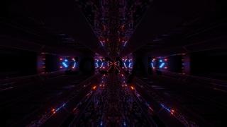 futuristic stylish textured sci-fi tunnel corridor wallpaper 3d rendering