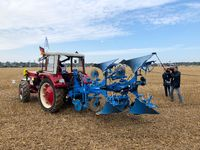 International contestants plowing their plots during the World Ploughing Competition in Germany 2018