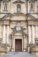 church building fasade in Bamberg Bavaria Germany