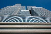 De Rotterdam building against blue sky