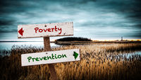 Street Sign Prevention versus Poverty