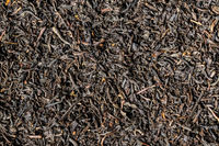Dried black tea leaves.