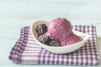 Bowl of blackberry ice-cream