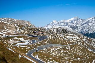 Views along the Grossglockner High Alpine Road in Austria