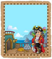Pirate ship deck topic parchment 1