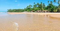 Tourists enjoying barra grande beach in Ponta do Muta