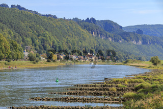 Elbe und Elbsandsteingebirge, Postelwitz, Bad Schandau, Sächsische Schweiz