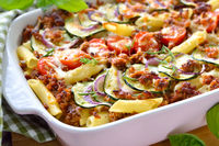 Zucchini-Nudel-Auflauf