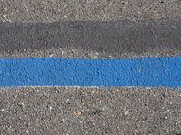 blue parking line sign