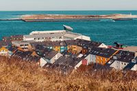 roofs on residential area in Heligoland
