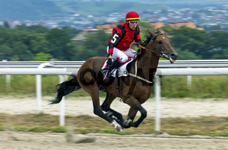 Horse racing for the prize of the Super Sprint in Pyatigorsk.