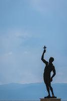 Catcher of a Cross statue in Ohrid