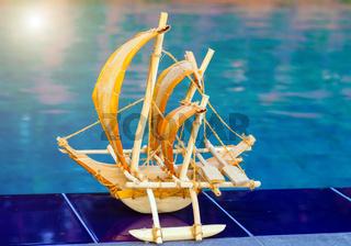 Bluewater pool beach sail fishing boat Ceylon