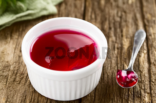 Eating Red Jelly or Jello