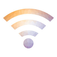 GPRS Logo. Radio Wave Icon. Wireless Network Symbol Isolated on White Background. Mobile Concept