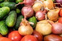 Organic vegetables close-up