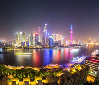 shanghai cityscape at night