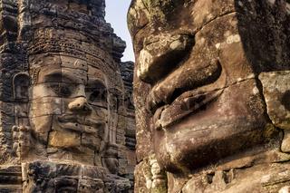 Stone face at Bayon