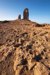 Scenic Volcanic landscape in Roque Nublo, Gran Canaria, Spain.