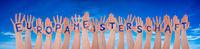 Hands With Europameisterschaft Means European Championship, Blue Sky