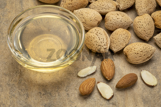 almond nuts and oil