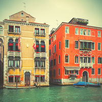 Old buildings by The Grand Canal in Venice